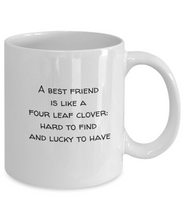 Best friends gifts mug: 4 leaf clover-GranvilleDesigns
