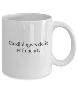 Cardiologists Heart Mug White Ceramic Gift-GranvilleDesigns