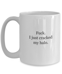 Naughty nice mug: cracked my halo-GranvilleDesigns