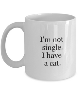 Mug cat lover: not single-GranvilleDesigns