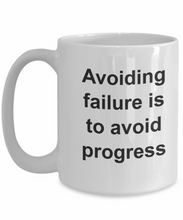 Avoiding failure is avoiding progress not an option perfection-GranvilleDesigns