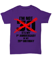 30th birthday t shirt: Anniversary of 29-GranvilleDesigns
