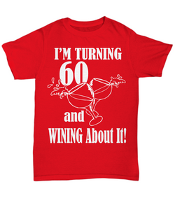 60th birthday shirt: wine lover-GranvilleDesigns