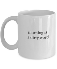 Not a morning person mug dirty word-GranvilleDesigns