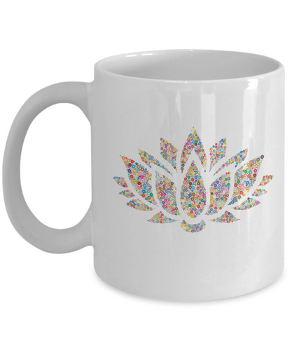 Coffee mug lotus-GranvilleDesigns