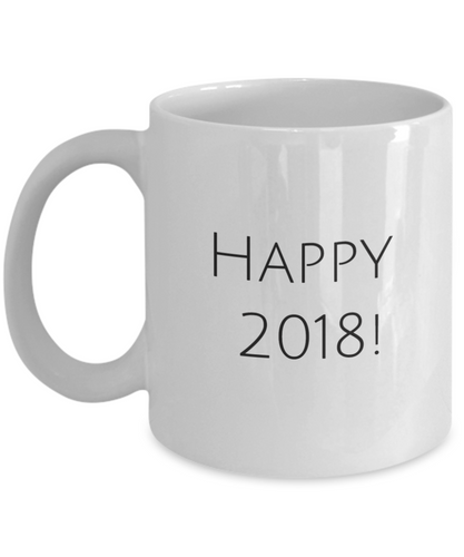 Happy 2018 coffee mug-GranvilleDesigns