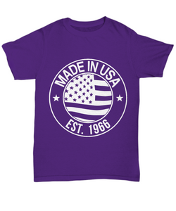 1966 t shirt: Made in the USA-GranvilleDesigns