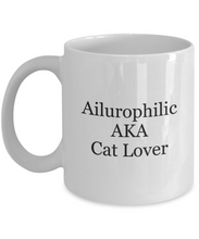 Cat lover coffee mug ailurophilic-GranvilleDesigns
