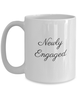 Gifts for newly engaged: coffee mug-GranvilleDesigns