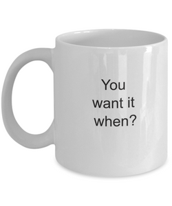 Coworkers gift ideas: you want it when?-GranvilleDesigns