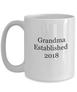 New Grandma 2018 mug-GranvilleDesigns