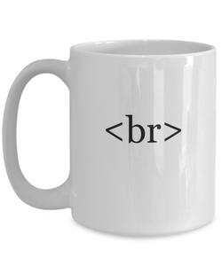 Web developer gifts: html coffee mug-GranvilleDesigns