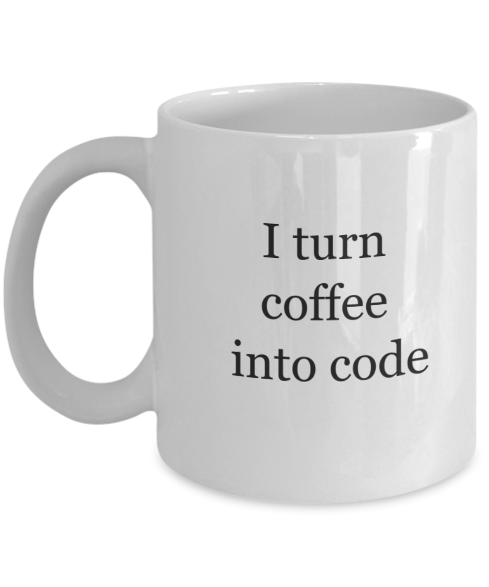 Programmers mug: coffee to code-GranvilleDesigns