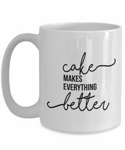 Cake Decorator Mug: Cake Makes Everything Better-GranvilleDesigns