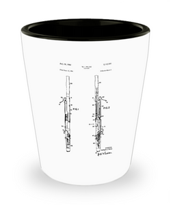 Bassoonist Gift: Patent Shot Glass-GranvilleDesigns