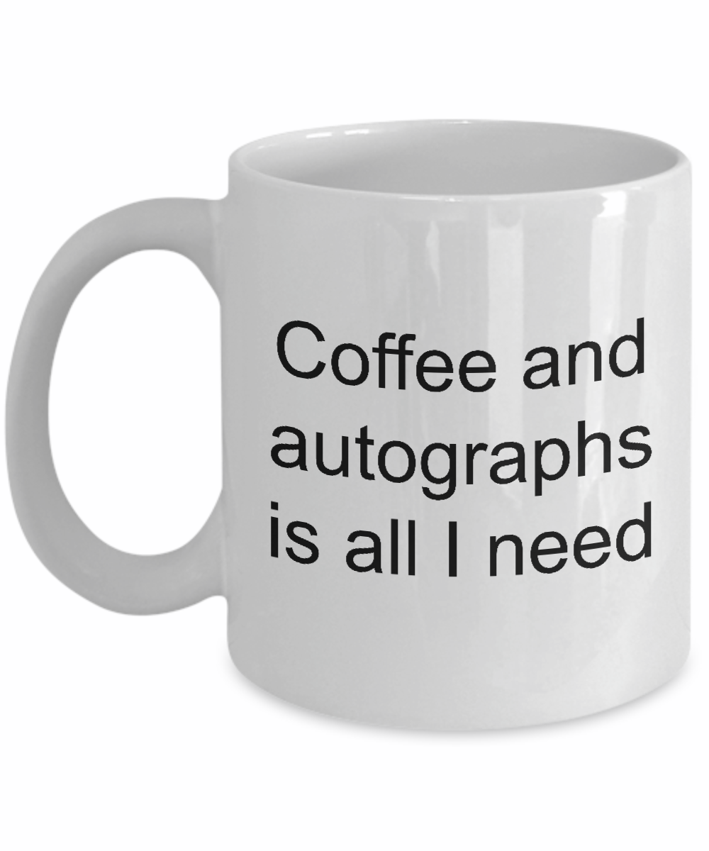 Coffee and autographs mug autographed-GranvilleDesigns