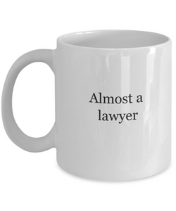 Law student mug: almost lawyer-GranvilleDesigns