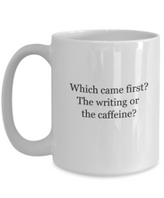 Authors mug: writing or caffeine?-GranvilleDesigns