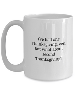 2nd Thanksgiving Mug White Ceramic-GranvilleDesigns
