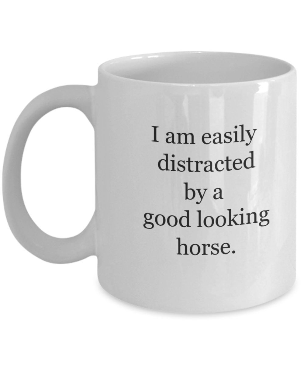 Horse lover cup: easily distracted-GranvilleDesigns