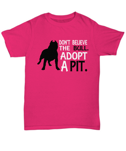 Adopt pitbull shirt-GranvilleDesigns