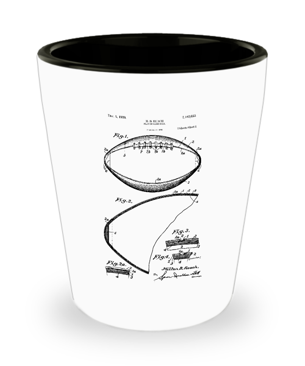 Coach Gift Football: Patent Shot-GranvilleDesigns