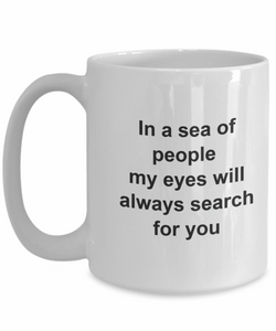 In a sea of people my eyes will always-GranvilleDesigns