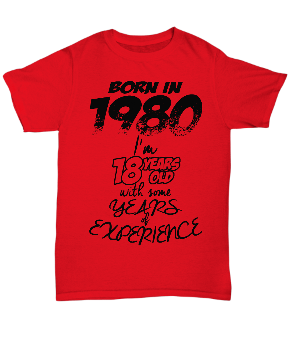 1980 t shirt: 18 with years of experience-GranvilleDesigns