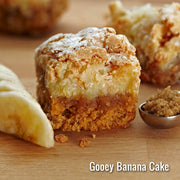 Caramelized Banana Gooey Butter Cake