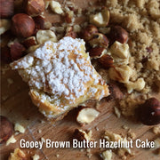 Brown Butter Hazelnut Gooey Cake