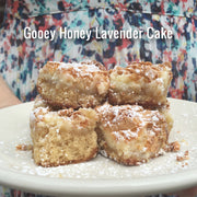 Honey Lavender Gooey Butter Cake