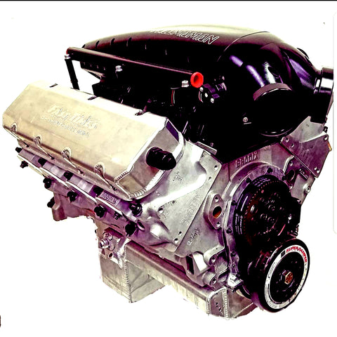 "FASTTIMES 540"" TURBO/BLOWER BBC RACE ENGINE"
