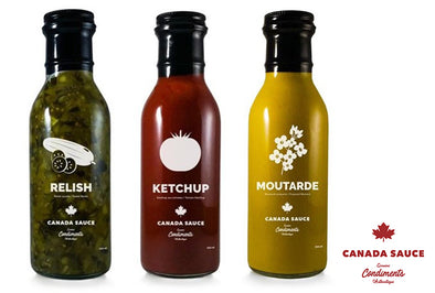 Trio de condiments | Ketchup-Relish-Moutarde