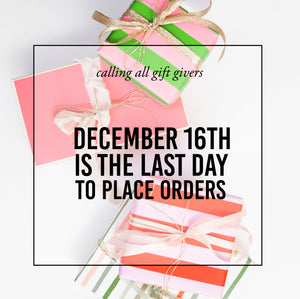 Order By Dec 16th For Delivery by 'Xmas
