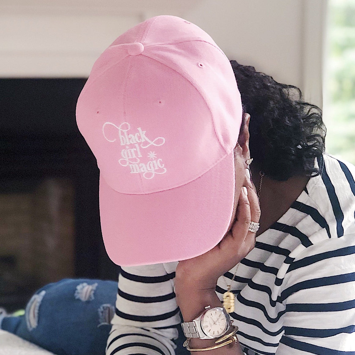 Black Girl Magic :: Baseball Hat - Pink