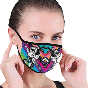 Rainbow Tattoo Face Mask
