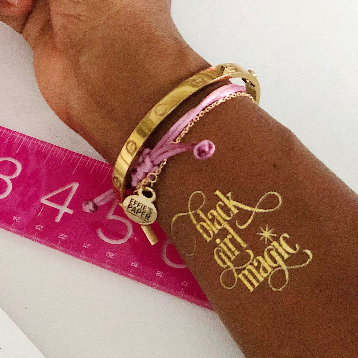 Black Girl Magic :: Gold Tattoo,   - Effie's Paper