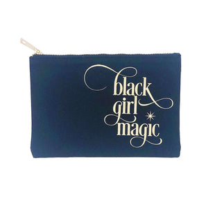 Black Girl Magic canvas makeup bag
