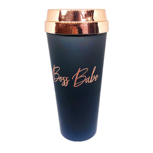 Boss Babe :: Rose Gold Matte Travel Mug- PRE SALE