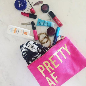 PRETTY AF :: Makeup Bag,   - Effie's Paper