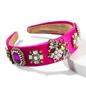 Queen Bee Headband :: Hot PInk