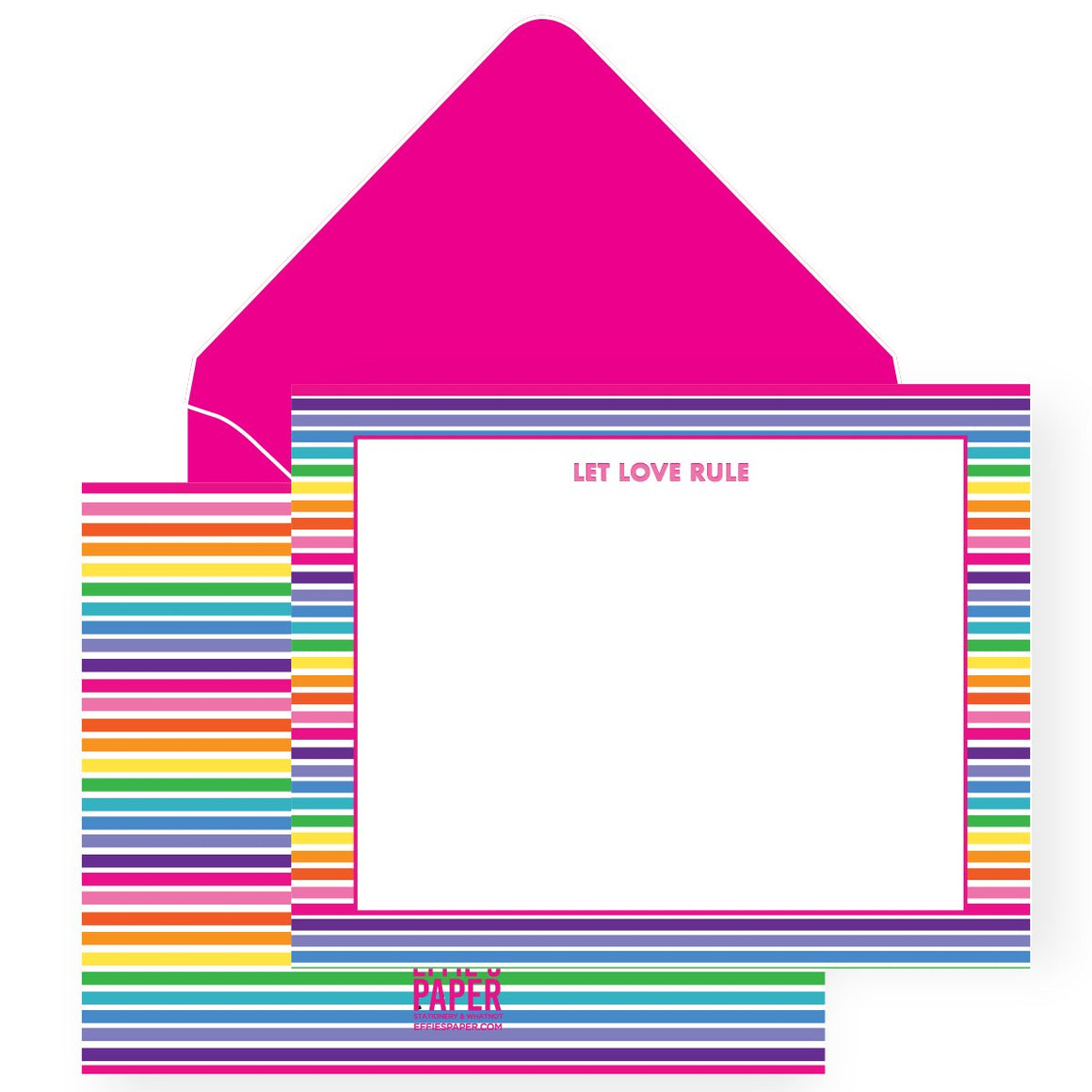 Let Love Rule :: Boxed Stationery Set
