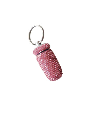 Pink Crystal Pill Case