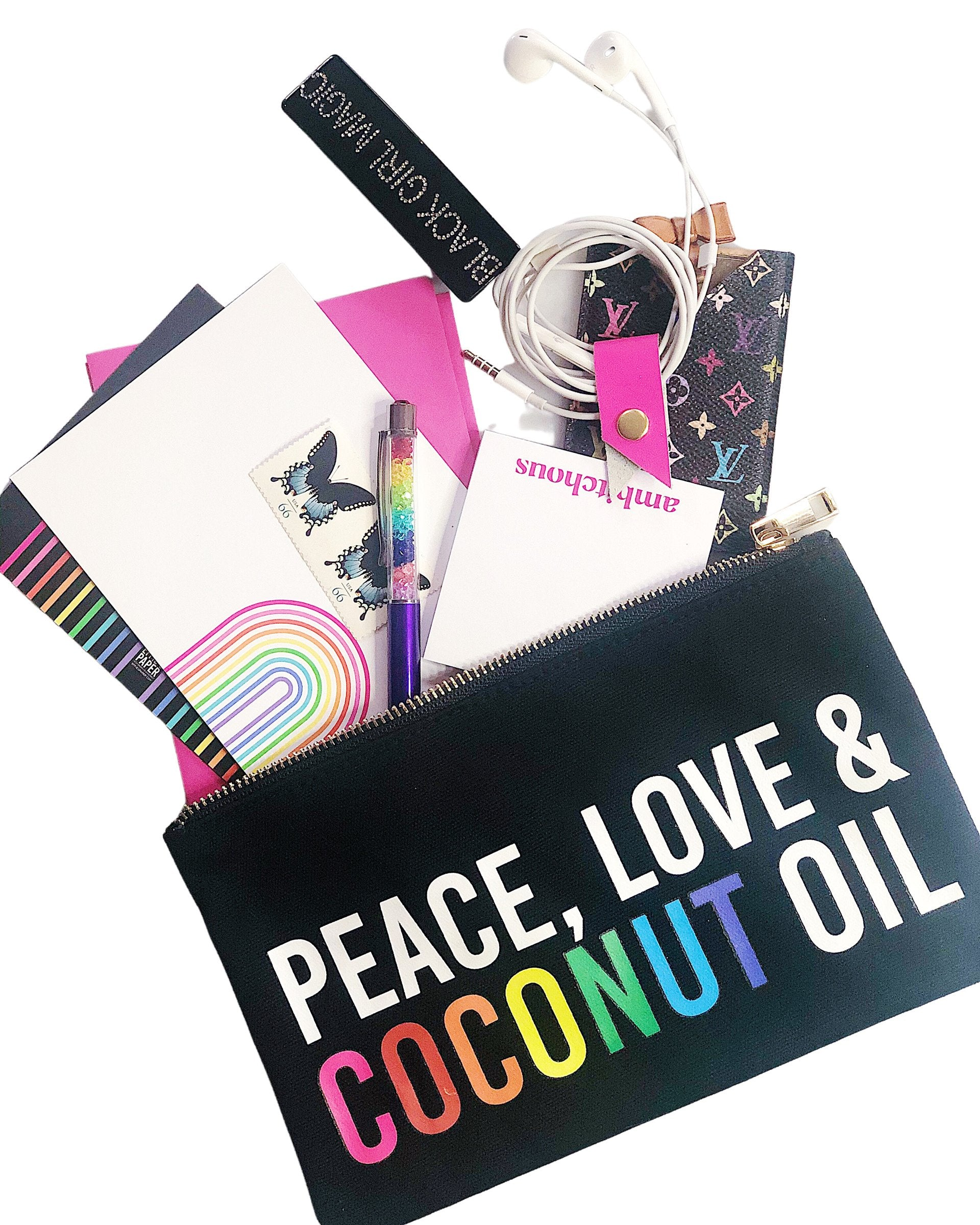 Peace Love Coconut Oil :: Makeup Bag