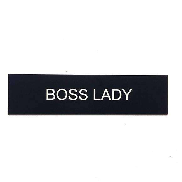 BOSS LADY :: Desk Nameplate