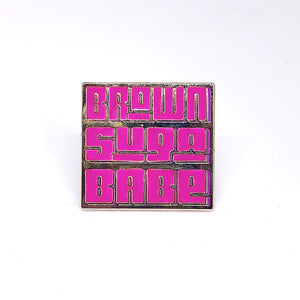 Brown Suga Babe :: Lapel Pin,   - Effie's Paper