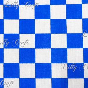 "Checkered 1"" Poly Cotton Fabric - Sold By The Yard - 58"" / 60"""