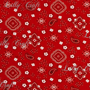 "Bandana Poly Cotton Fabric - Sold by the Yard - 58"" / 59"""