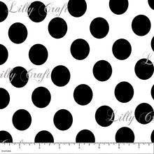 "Polka Dots 1"" Poly Cotton Fabric - Sold By The Yard - 58"" / 60"""