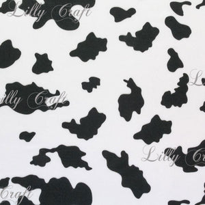 "Cow Print Poly Cotton, 58""/60"" Inches Wide – Sold By The Yard"